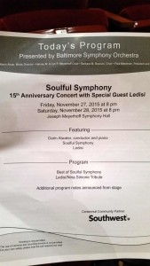 Soulful Symphony program