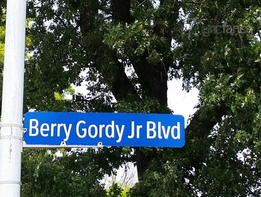Berry Gordy Jr Blvd sign