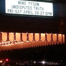Mike Tyson one-man show marquee