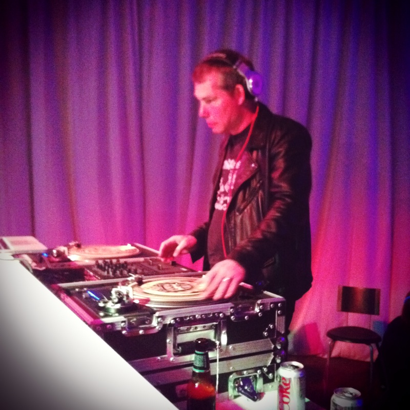 Shepard Fairey DJ and artist at the Dallas Contemporary