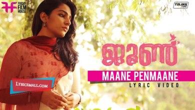 Photo of Maane Penmaane Lyrics | June Malayalam Movie Songs Lyrics