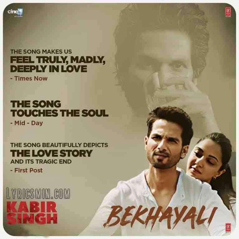 Bekhayali – Sachet Tandon