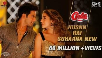 Husnn Hai Suhaana Lyrics - Coolie No.1 | Chandana Dixit, Abhijeet Bhattacharya, Varun Dhawan, Sara Ali Khan