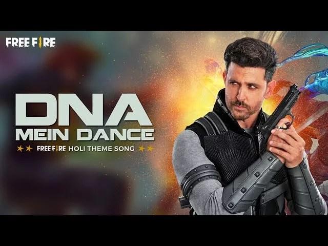 DNA MEIN DANCE LYRICS » FREE FIRE x HRITHIK ROSHAN » Lyrics Over A2z