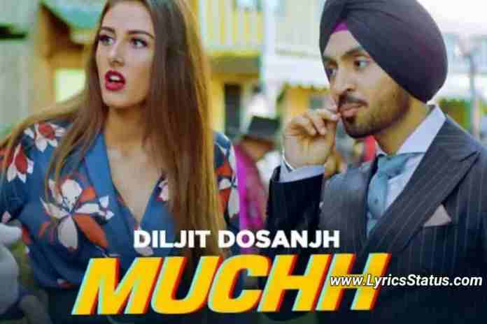 Diljit-Dosanjh-Muchh-Lyrics-Status-Video-Download-Black-Background