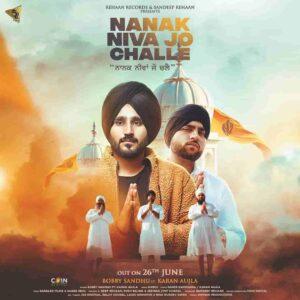 Bobby Sandhu Nanak Niva Jo Challe Karan Aujla Lyrics Status Download Punjabi Song Nanak niva jo challe Lagge na tatti waah whatsapp video