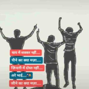 Doston Ke Sath Zindagi Dosti Hindi Status Video Download Chay me shakkar nahi Peene ka kya maza Zindagi me dost nahi Arre bhai jeene ka kya maza