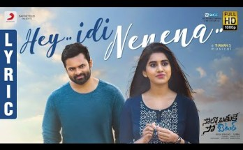 Hey Idi Nenena Lyrics -Solo Brathuke So Better