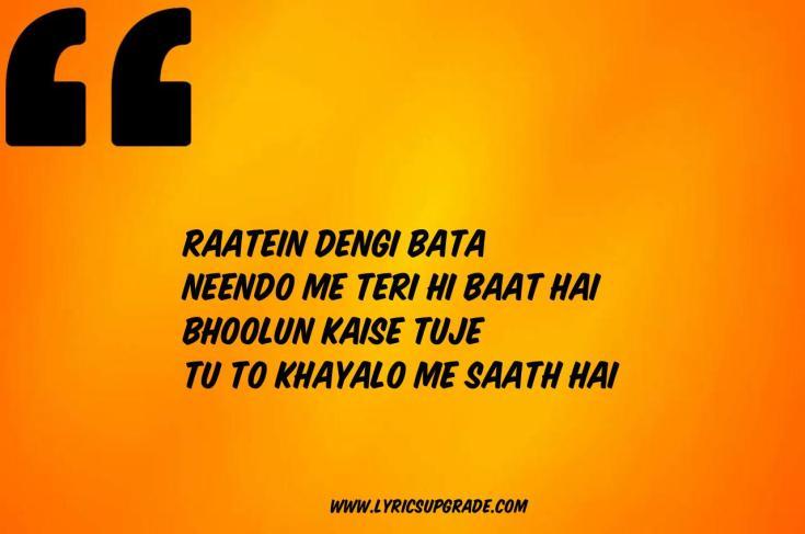 Romantic Song Lyrics For WhatsApp, Two Line love Song Status, Two Line Love Song Lyrics In Hindi