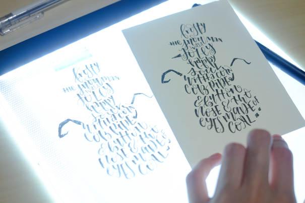 festive silhouette cards