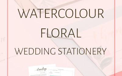 How to Make Watercolor Floral Wedding Stationery (+ free guide!)