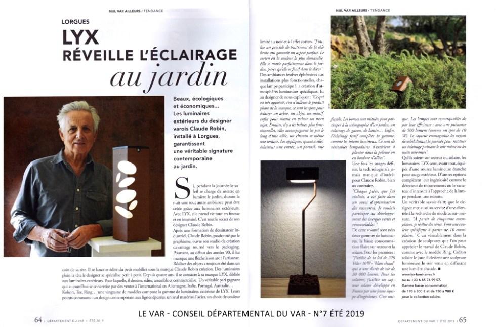 LYX Luminaires édite des gammes de lampes extérieures solaires et lampes extérieures LED. Chaque luminaire extérieur est de conception et de fabrication française. Nos lampes extérieures au design moderne, offrent un éclairage performant. La collection de luminaire extérieur design se compose de : borne extérieure solaire et borne extérieure LED, d'applique murale solaire et applique murale LED, de spot extérieur LED et de lanterne solaire. Lampes de jardin, lampes pour éclairage d'allée, balises pour éclairage de chemin, chaque lampe extérieure participe à la création d'un univers lumineux unique.  Tous les luminaires extérieurs LYX Luminaires sont de fabrication française. Nos lampes extérieures offrent un éclairage performant et un éclairage original grâce à leur design moderne. Ce sont des lampes extérieures de qualité, des lampes design, des lampes autonomes et elles sont équipées de détecteur de mouvement / détecteur de présence. Soucieux de limiter l'impact environnemental de notre activité, nous nous engageons depuis 2013 dans une démarche responsable pour l'édition de nos produits. Nos lampes écologiques et lampes éco-responsables s'inscrivent dans cette démarche. Découvrez les luminaires éco-responsables LYX.