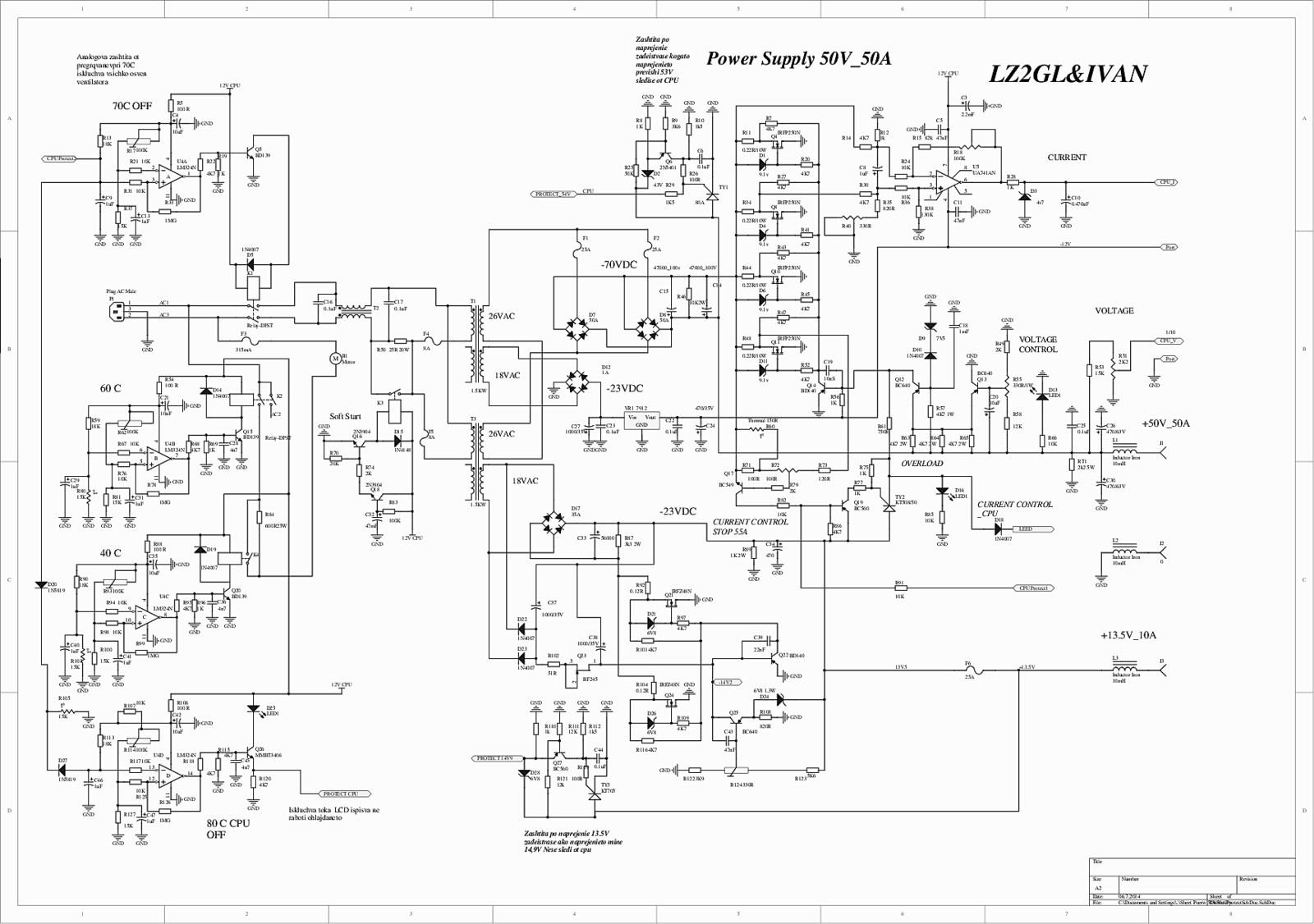Og Power Supply 50v 50a 28v 85a