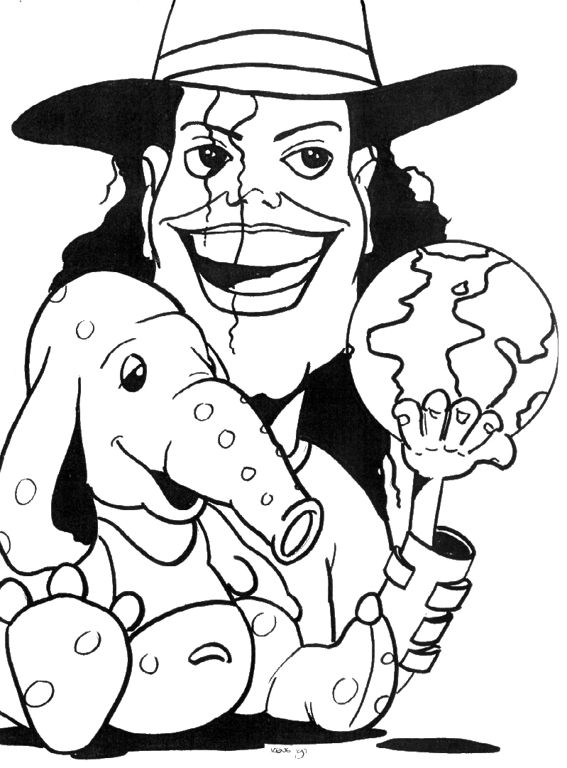 best of the best michael jackson coloring pages. home. michael ... | 1081x799