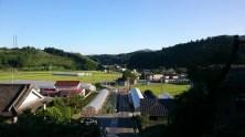 イエス工房付近から眺める田舎景色も絶景。