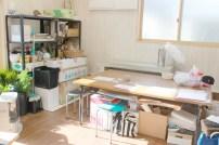 裏のスペースを使ってフラワーデザイン教室が行われるようです!