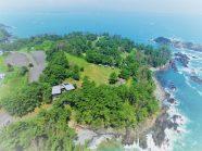 すぐ近くのキャンプ場も太平洋に面しており、美しい景観と自然の中でのキャンプが楽しめる