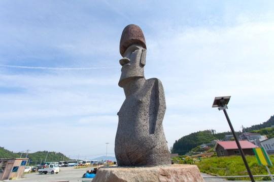 南三陸町のモアイ像とモアイスポット