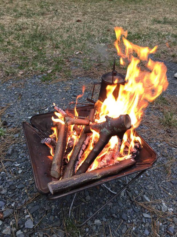 森はともだちプログラム はじめてのたき火~薪わりもあるよ~