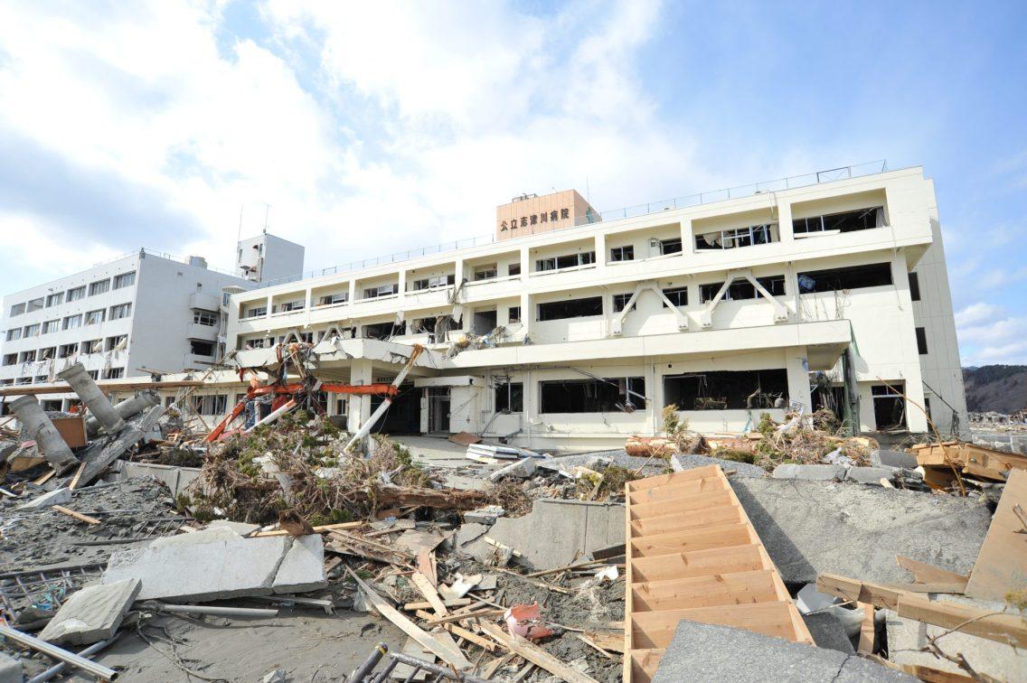 ▲當時受損的公立志津川醫院
