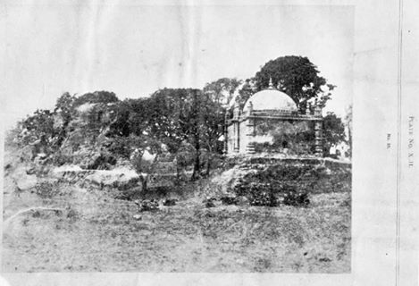 "Photo from ""Buddermokan, Report on the Antiquities of Arakan by Forchammer(1891)"