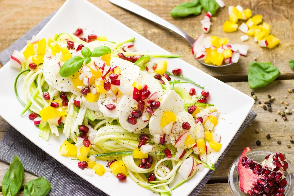 Zoodles Salat mit Mozzarella