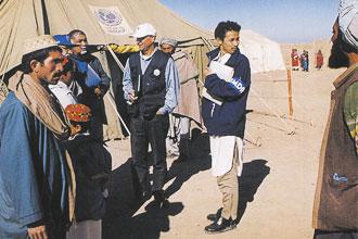 パキスタンのアフガニスタン難民キャンプ