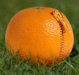 Zippered Orange