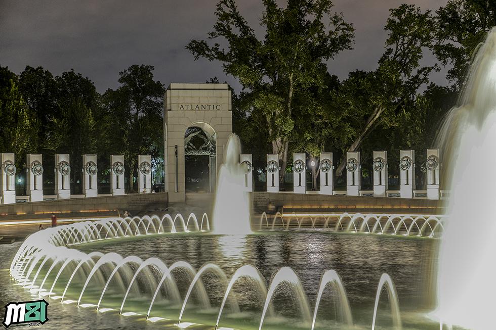 World War II Memorial Fountains Washington D.C.