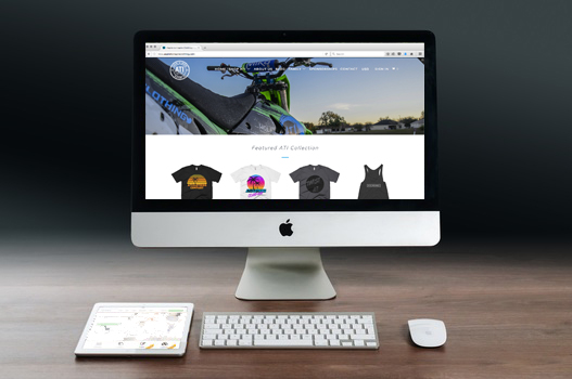 ATI Clothing Shopify Website Design