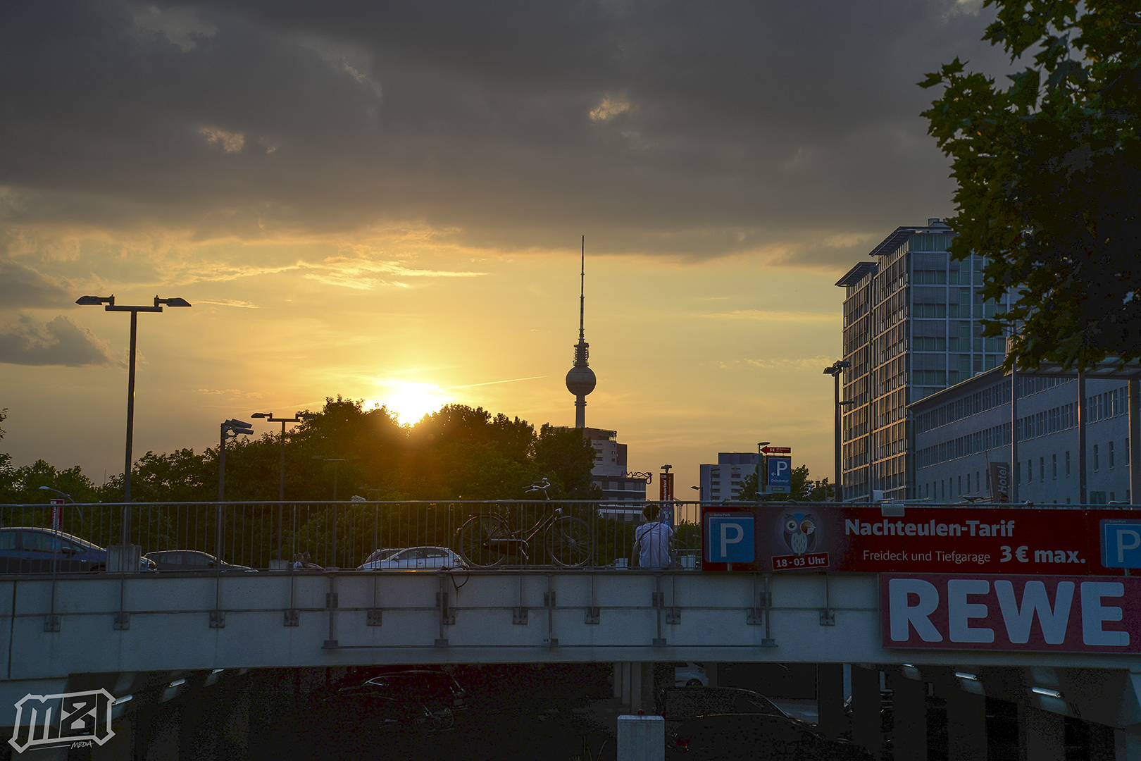 Berlin Germany TV Tower Sunset