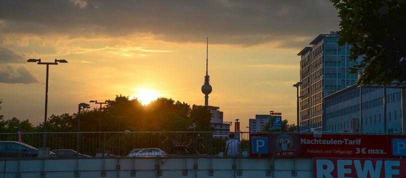 Berlin Germany TV Tower Sunset