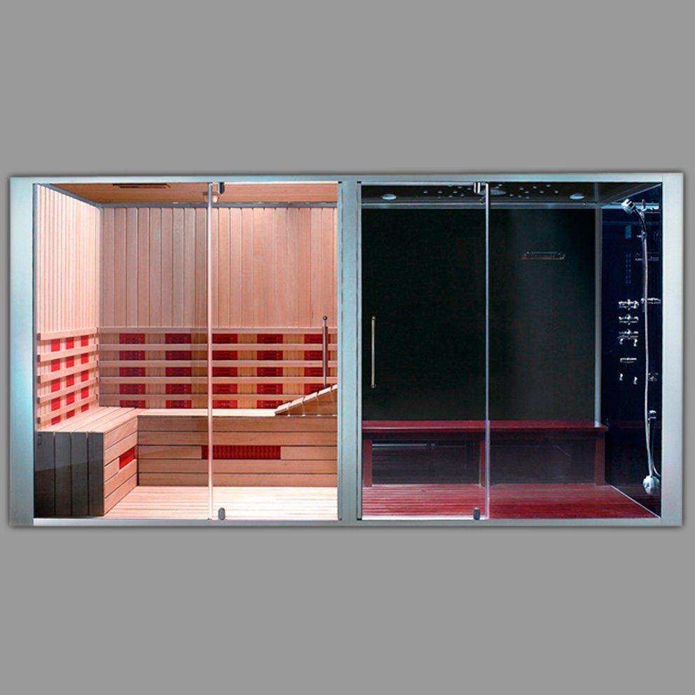combine douche hammam sauna big miami 240 x 120 x 220 cm
