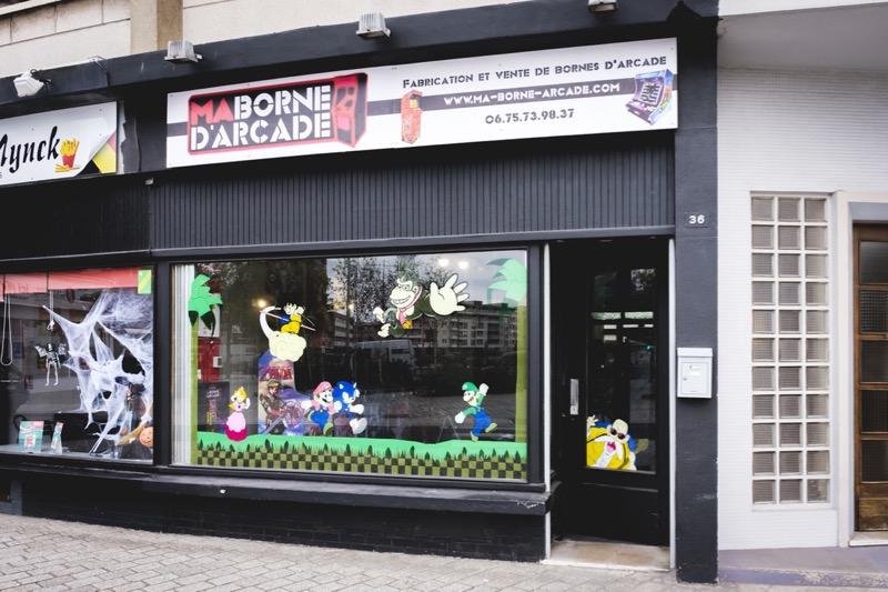 Devanture Magasin Bornes d'Arcade à Dunkerque ma-borne-arcade.fr