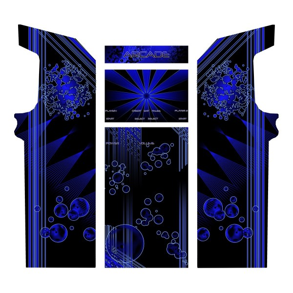 Borne Arcade Classic Planche Modèle Deep Blue ma-borne-arcade.fr