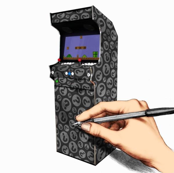 Borne Arcade Profil Droit Modèle Personnalisé ma-borne-arcade.fr