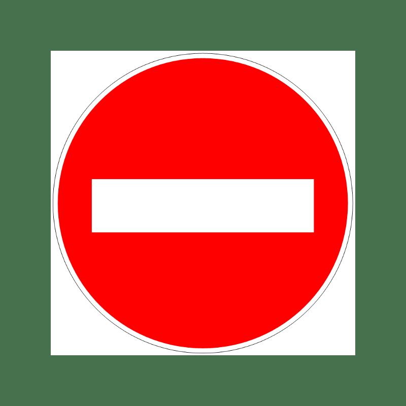 Sens Interdit Conforme Aux Principes De La Methode 5s