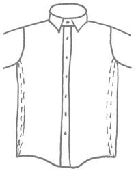 Chemise en coupe droite