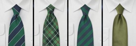 cravates vertes