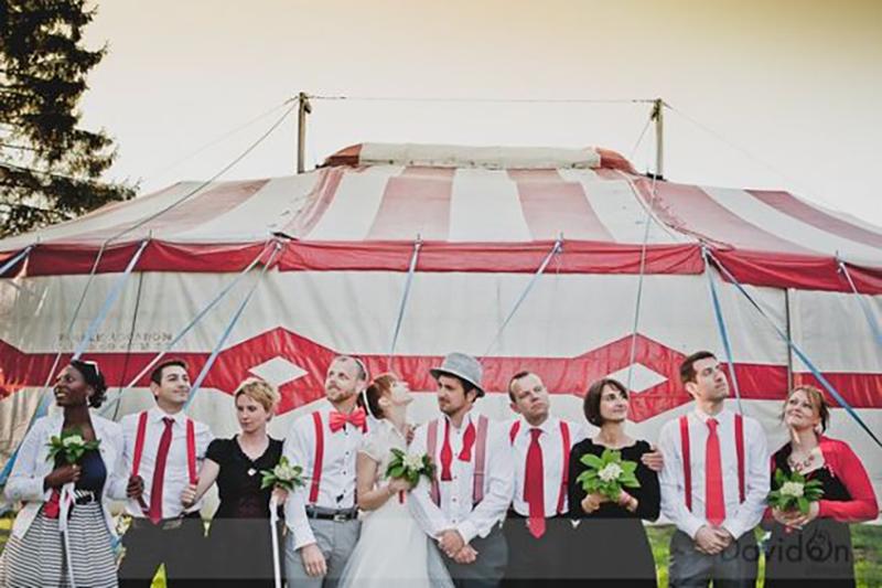 urne de mariage cirque