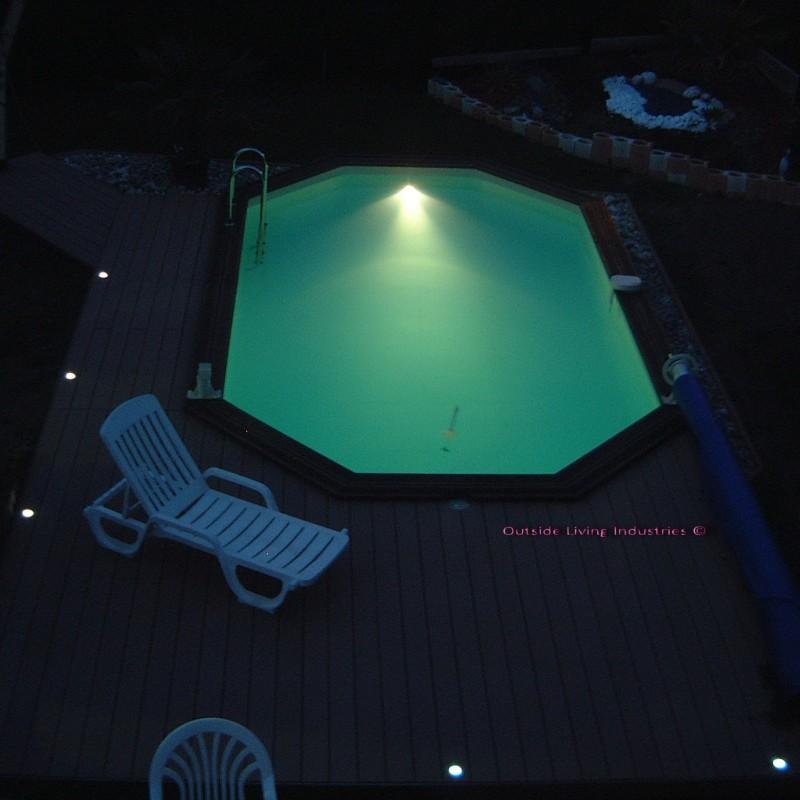 eclairage led blanc pour piscine kit