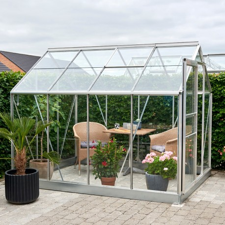 serre de jardin 5m en aluminium et verre horticole popular halls