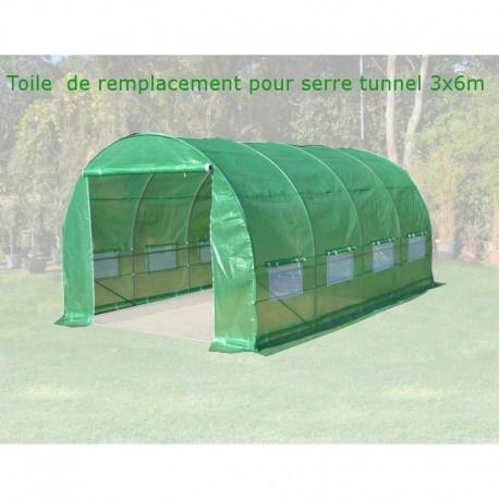 toile de rechange pour serre tunnel 3x6m 18m green protect