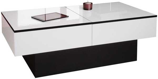 table basse avec coffre de rangement