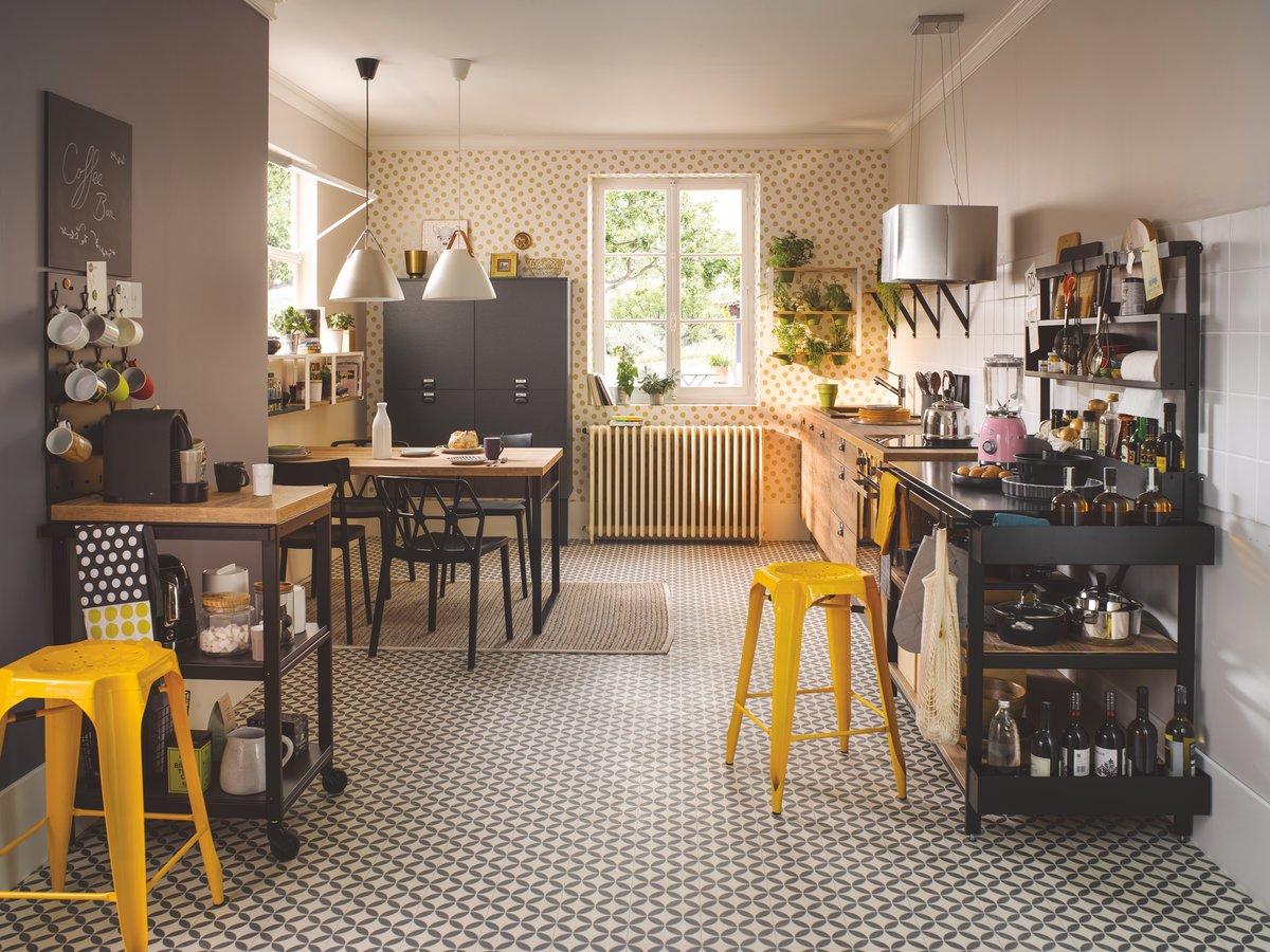 cuisine design bois et metal cuisine