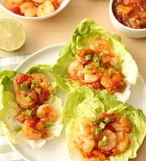 Salsa Shrimp Lettuce Wraps