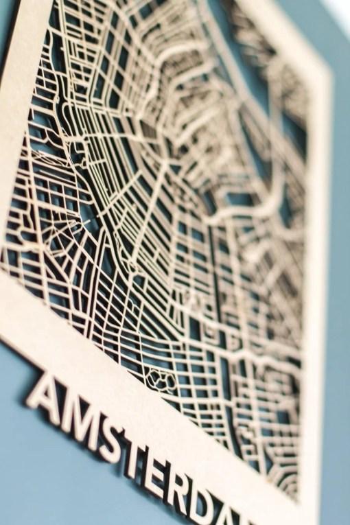 Citymap Amsterdam MDF (30x40)