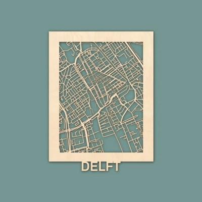 Citymap Delft Berken (30x40) RENDER