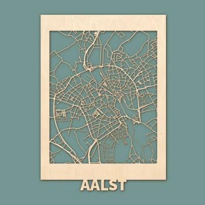Citymap Aalst (BE) Berken (50x70cm) RENDER