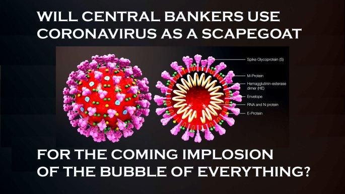 coronavirus targeted as future scapegoat for the next impending global financial crisis